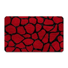Skin1 Black Marble & Red Leather (r) Magnet (rectangular) by trendistuff
