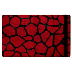 Skin1 Black Marble & Red Leather (r) Apple Ipad Pro 9 7   Flip Case by trendistuff