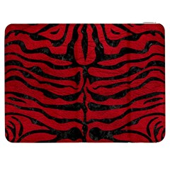 Skin2 Black Marble & Red Leather Samsung Galaxy Tab 7  P1000 Flip Case by trendistuff