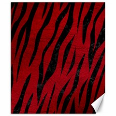 Skin3 Black Marble & Red Leather Canvas 8  X 10  by trendistuff