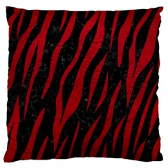 Skin3 Black Marble & Red Leather (r) Standard Flano Cushion Case (one Side) by trendistuff