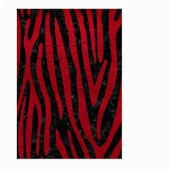 Skin4 Black Marble & Red Leather Large Garden Flag (two Sides) by trendistuff