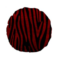Skin4 Black Marble & Red Leather Standard 15  Premium Round Cushions by trendistuff