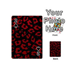Skin5 Black Marble & Red Leather Playing Cards 54 (mini)  by trendistuff