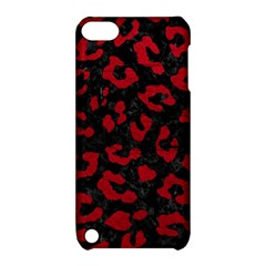 Skin5 Black Marble & Red Leather Apple Ipod Touch 5 Hardshell Case With Stand by trendistuff
