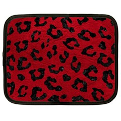 Skin5 Black Marble & Red Leather (r) Netbook Case (large) by trendistuff