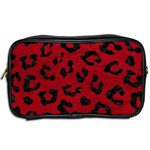SKIN5 BLACK MARBLE & RED LEATHER (R) Toiletries Bags 2-Side Back