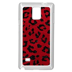 Skin5 Black Marble & Red Leather (r) Samsung Galaxy Note 4 Case (white) by trendistuff