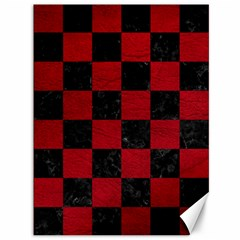 Square1 Black Marble & Red Leather Canvas 36  X 48   by trendistuff