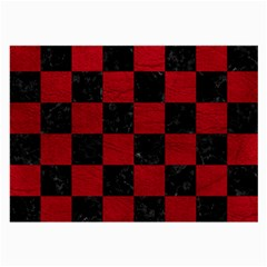 Square1 Black Marble & Red Leather Large Glasses Cloth by trendistuff
