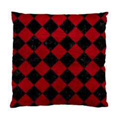 Square2 Black Marble & Red Leather Standard Cushion Case (one Side) by trendistuff