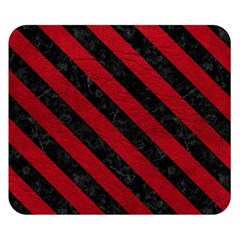 Stripes3 Black Marble & Red Leather Double Sided Flano Blanket (small)  by trendistuff