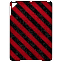 Stripes3 Black Marble & Red Leather Apple Ipad Pro 9 7   Hardshell Case by trendistuff