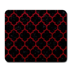 Tile1 Black Marble & Red Leather (r) Large Mousepads by trendistuff