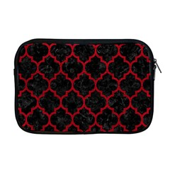 Tile1 Black Marble & Red Leather (r) Apple Macbook Pro 17  Zipper Case by trendistuff