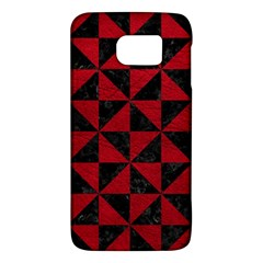 Triangle1 Black Marble & Red Leather Galaxy S6