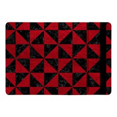 Triangle1 Black Marble & Red Leather Apple Ipad Pro 10 5   Flip Case by trendistuff
