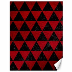 Triangle3 Black Marble & Red Leather Canvas 36  X 48