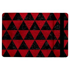 Triangle3 Black Marble & Red Leather Ipad Air Flip by trendistuff