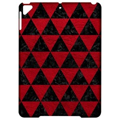Triangle3 Black Marble & Red Leather Apple Ipad Pro 9 7   Hardshell Case by trendistuff