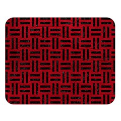 Woven1 Black Marble & Red Leather Double Sided Flano Blanket (large)  by trendistuff