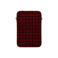 Woven1 Black Marble & Red Leather (r) Apple Ipad Mini Protective Soft Cases by trendistuff