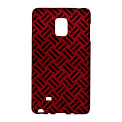 Woven2 Black Marble & Red Leather Galaxy Note Edge by trendistuff