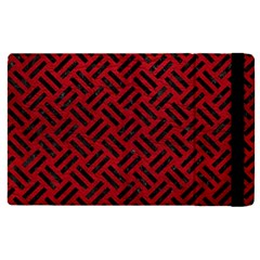 Woven2 Black Marble & Red Leather Apple Ipad Pro 12 9   Flip Case