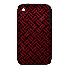 Woven2 Black Marble & Red Leather (r) Iphone 3s/3gs by trendistuff