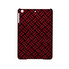 Woven2 Black Marble & Red Leather (r) Ipad Mini 2 Hardshell Cases by trendistuff