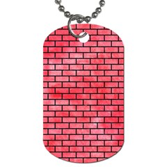 Brick1 Black Marble & Red Watercolor Dog Tag (two Sides) by trendistuff