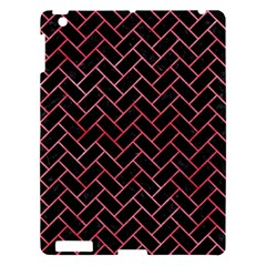 Brick2 Black Marble & Red Watercolor (r) Apple Ipad 3/4 Hardshell Case by trendistuff