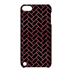 Brick2 Black Marble & Red Watercolor (r) Apple Ipod Touch 5 Hardshell Case With Stand by trendistuff
