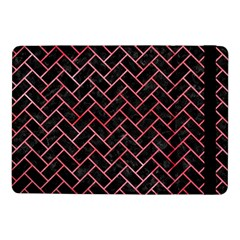 Brick2 Black Marble & Red Watercolor (r) Samsung Galaxy Tab Pro 10 1  Flip Case by trendistuff