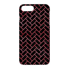 Brick2 Black Marble & Red Watercolor (r) Apple Iphone 7 Plus Hardshell Case