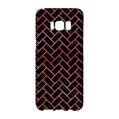 Brick2 Black Marble & Red Watercolor (r) Samsung Galaxy S8 Hardshell Case  by trendistuff