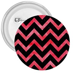 Chevron9 Black Marble & Red Watercolor (r) 3  Buttons by trendistuff
