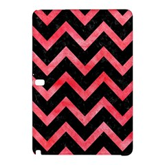 Chevron9 Black Marble & Red Watercolor (r) Samsung Galaxy Tab Pro 10 1 Hardshell Case by trendistuff