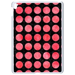 Circles1 Black Marble & Red Watercolor (r) Apple Ipad Pro 9 7   White Seamless Case