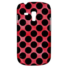 Circles2 Black Marble & Red Watercolor Galaxy S3 Mini by trendistuff
