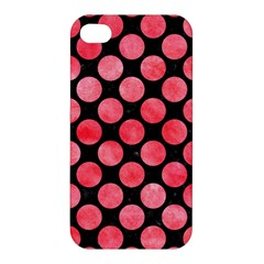 Circles2 Black Marble & Red Watercolor (r) Apple Iphone 4/4s Premium Hardshell Case by trendistuff