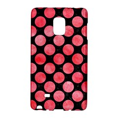 Circles2 Black Marble & Red Watercolor (r) Galaxy Note Edge by trendistuff