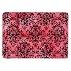 Damask1 Black Marble & Red Watercolor Samsung Galaxy Tab 8 9  P7300 Flip Case by trendistuff