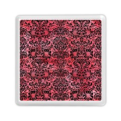 Damask2 Black Marble & Red Watercolor Memory Card Reader (square)  by trendistuff