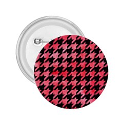 Houndstooth1 Black Marble & Red Watercolor 2 25  Buttons by trendistuff