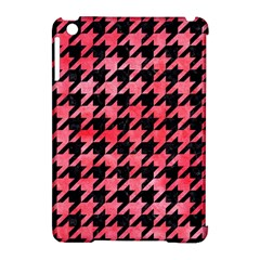 Houndstooth1 Black Marble & Red Watercolor Apple Ipad Mini Hardshell Case (compatible With Smart Cover) by trendistuff