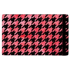Houndstooth1 Black Marble & Red Watercolor Apple Ipad Pro 9 7   Flip Case by trendistuff
