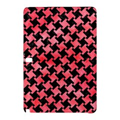 Houndstooth2 Black Marble & Red Watercolor Samsung Galaxy Tab Pro 12 2 Hardshell Case by trendistuff