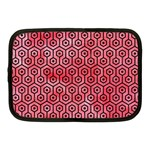 HEXAGON1 BLACK MARBLE & RED WATERCOLOR Netbook Case (Medium)  Front