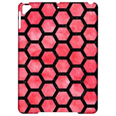 Hexagon2 Black Marble & Red Watercolor Apple Ipad Pro 9 7   Hardshell Case by trendistuff